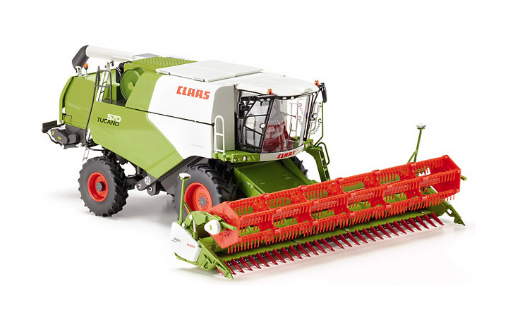 "Wiking/ヴィーキング 077817 Claas Tucano 570 combine with V 930 grain mower attachment"" border="