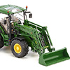 077344 1/32 John Deere 6125R with front loader