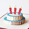 飛び出すグリーティングカード お誕生日ケーキ