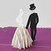 飛び出すグリーティングカード 結婚
