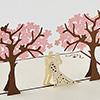 飛び出すグリーティングカード 桜の木の下で