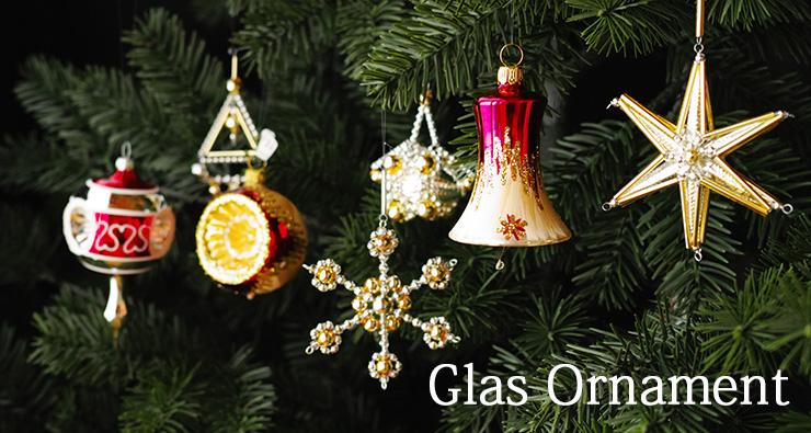 ガラスオーナメント クリスマス